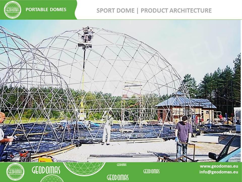 "Multimedia historical exhibition ""Slavic Myth""   Geodesic Domes Ø20m & Ø6m"