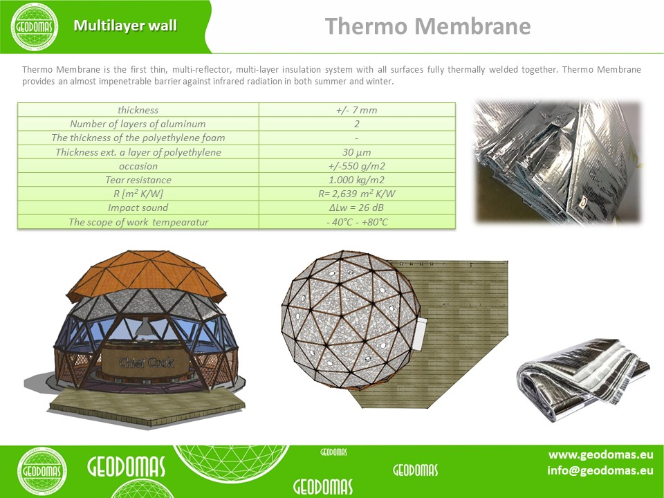 28m² BARBEQUE (BBQ) Grill Dome Ø6m F3 H3,5m | WOOD DOME