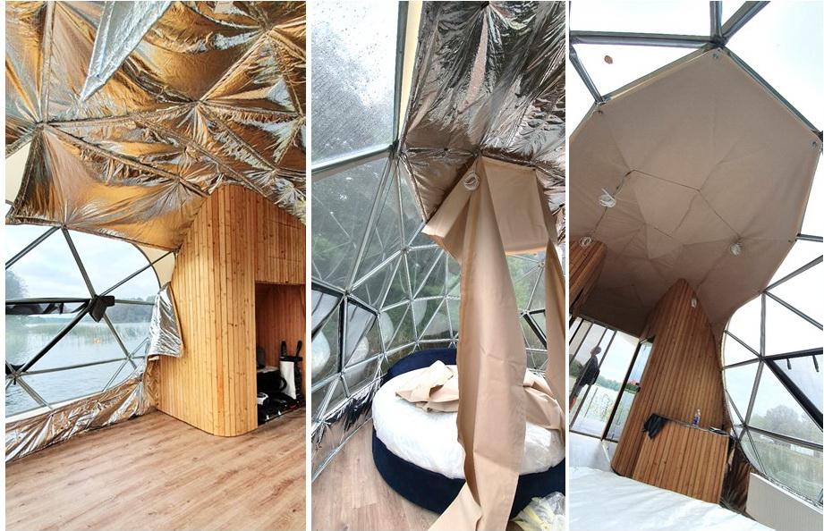 27m² Luxury Glamping Yacht | Floating Dome Ø7m, Trakai LT